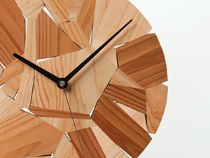 木片の時計